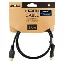 4world Kabel HDMI High Speed z Ethernetem (v1.4), 1m